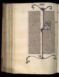 Historiated Initial To Esther, In 'The Ashridge Petrus Comestor'